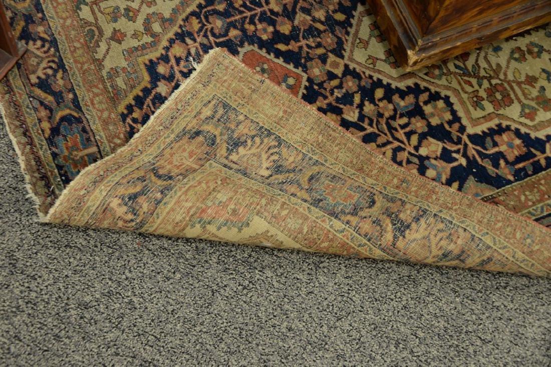 Farahan Sarouk Oriental throw rug (wear and tear). - 3