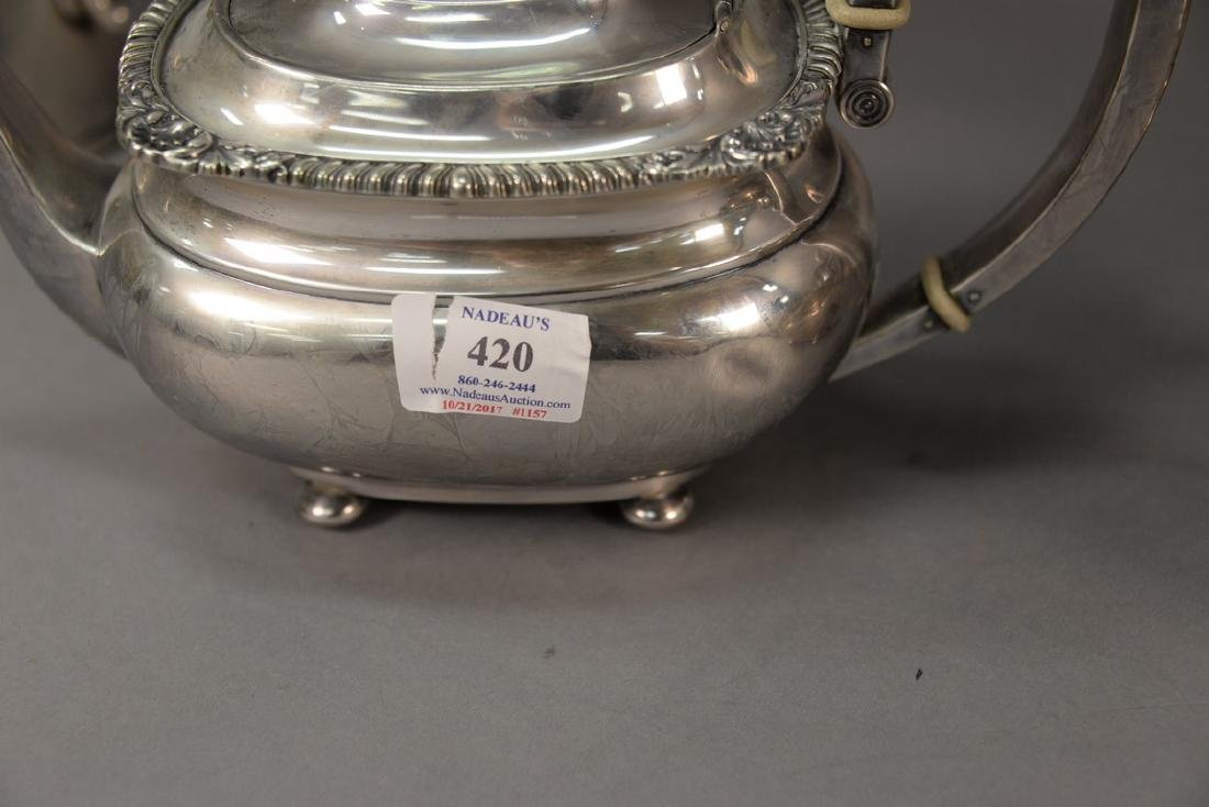 Gorham sterling silver four piece tea and coffee set. - 4