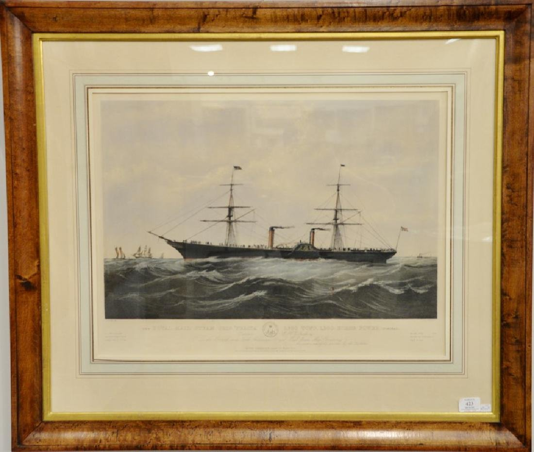 Nathaniel Currier  hand colored lithograph  The Royal