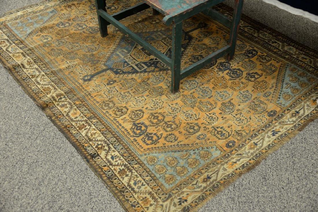 "Caucasian Oriental throw rug.  5' x 6'6"""