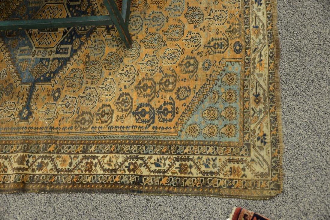 "Caucasian Oriental throw rug.  5' x 6'6"" - 2"