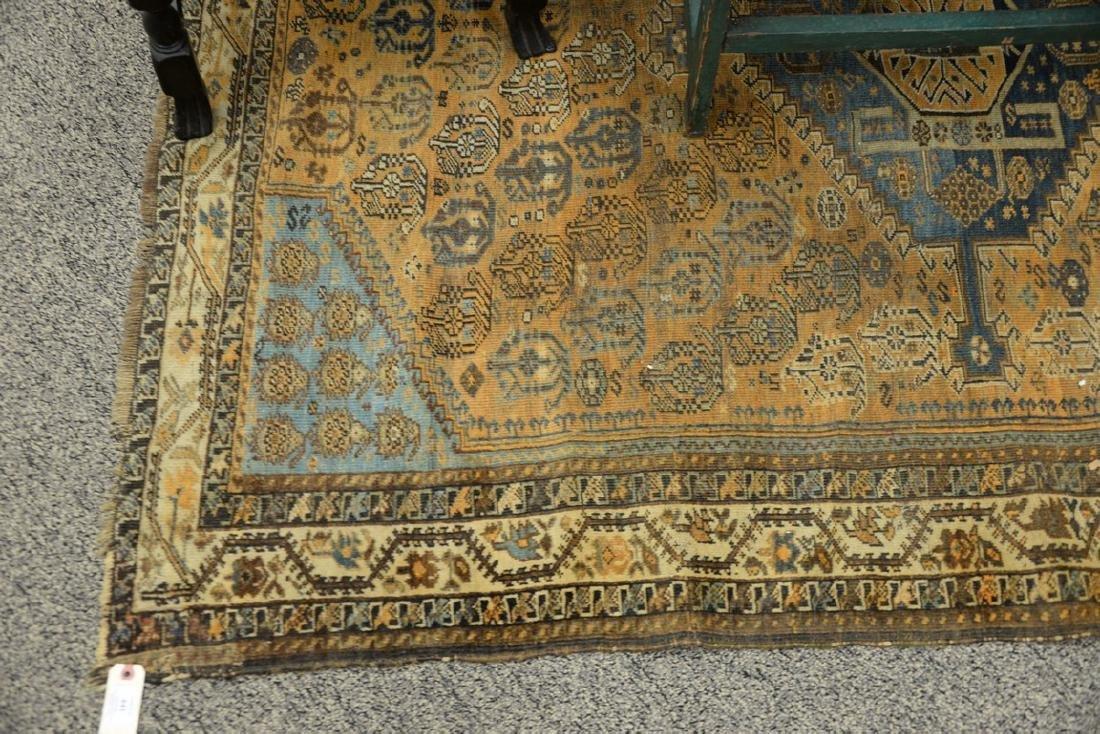 "Caucasian Oriental throw rug.  5' x 6'6"" - 4"