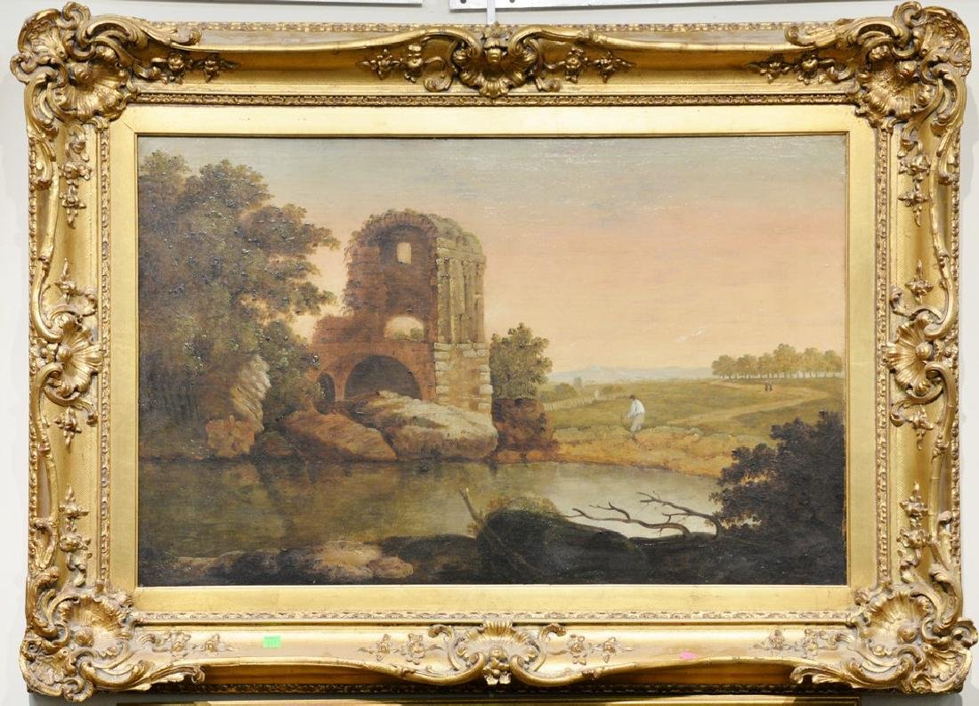 Attributed to Richard Wilson (1714-1782)  oil on canvas