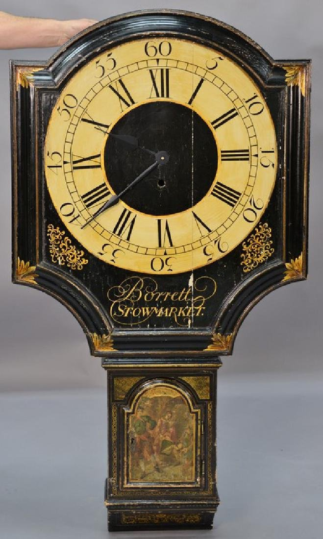Unusual George III black lacquered and gilded tavern