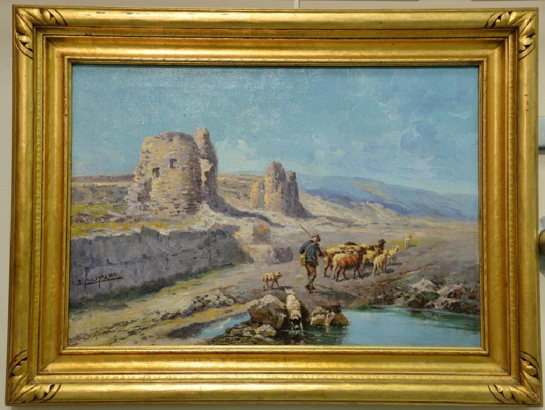 John Califano (1862/64-1946)  oil on canvas  Shepherd