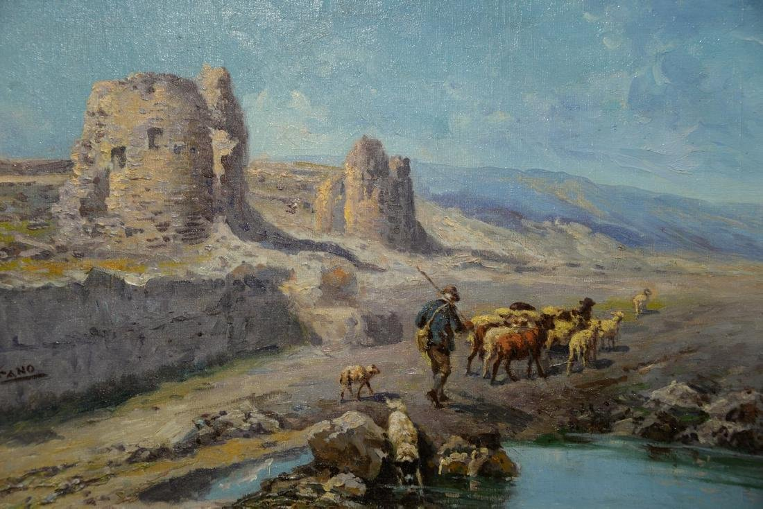 John Califano (1862/64-1946)  oil on canvas  Shepherd - 3