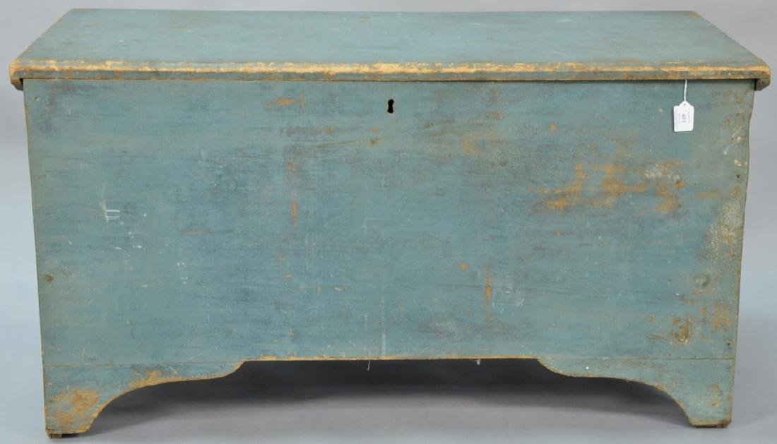 Primitive blanket chest with lift top in original blue