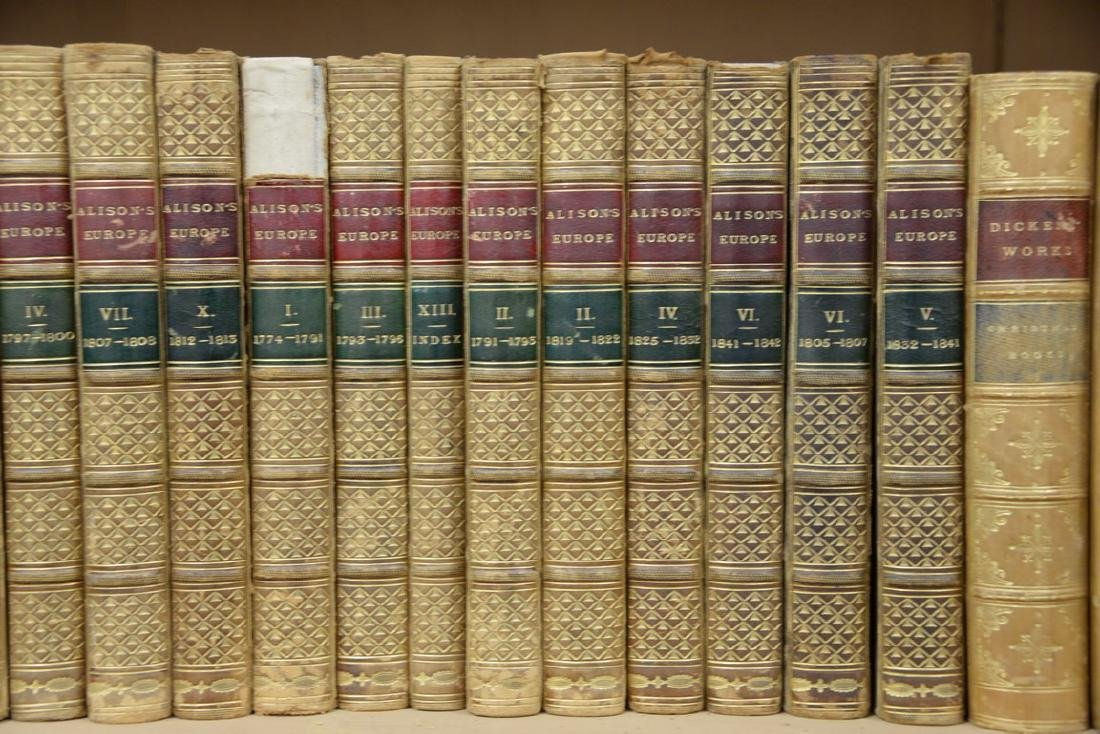 Fifty-seven leatherbound books including Sir Archibald, - 3