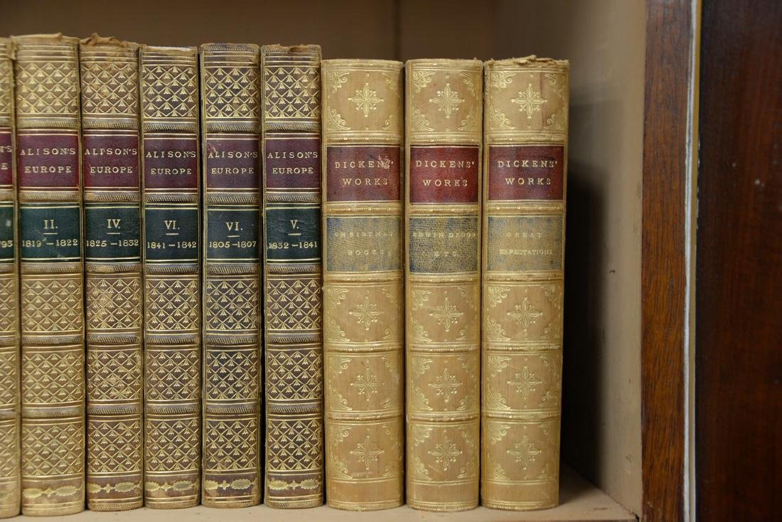 Fifty-seven leatherbound books including Sir Archibald, - 4