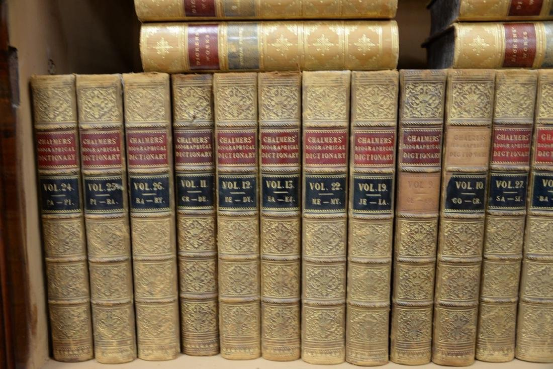 Fifty-seven leatherbound books including Sir Archibald, - 5