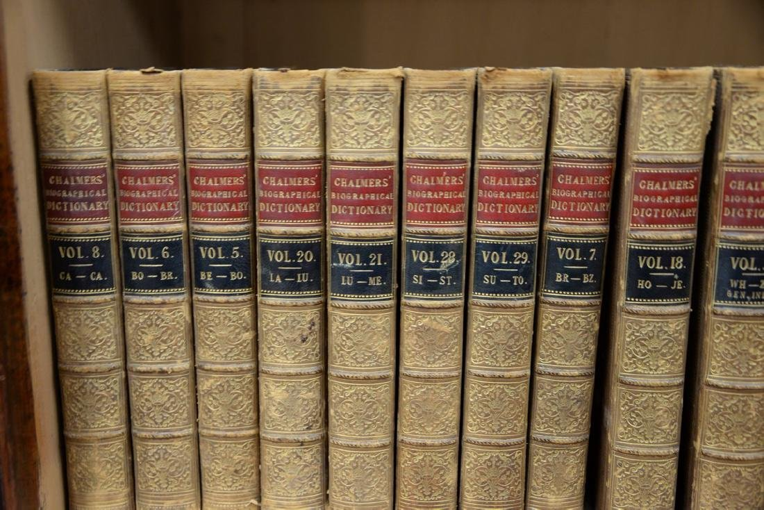Fifty-seven leatherbound books including Sir Archibald, - 7