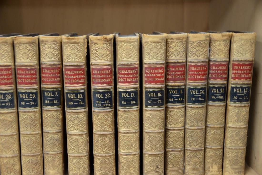 Fifty-seven leatherbound books including Sir Archibald, - 8