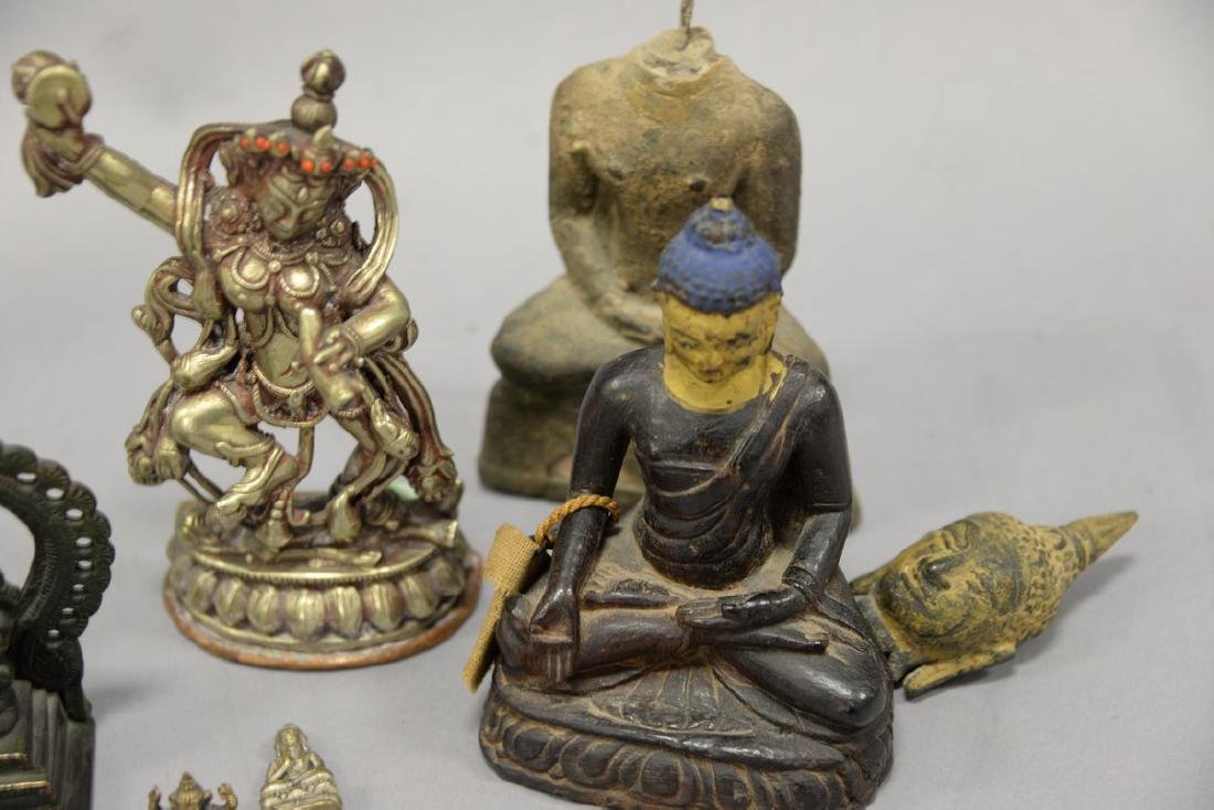 Group of eight Asian and Archaic pieces to include two - 10