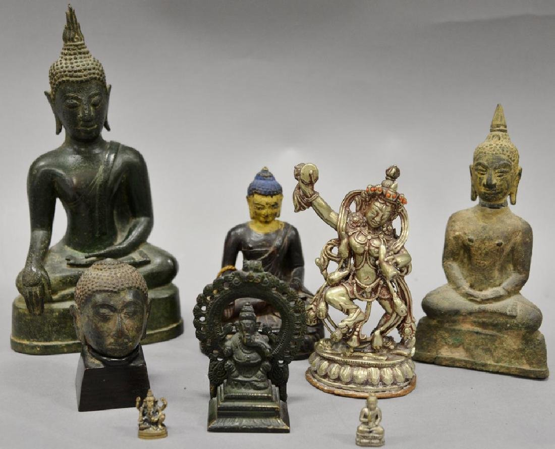 Group of eight Asian and Archaic pieces to include two