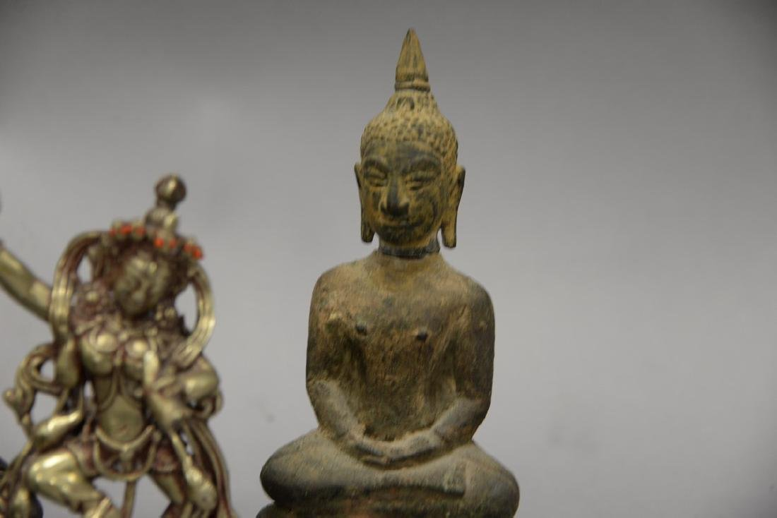 Group of eight Asian and Archaic pieces to include two - 3