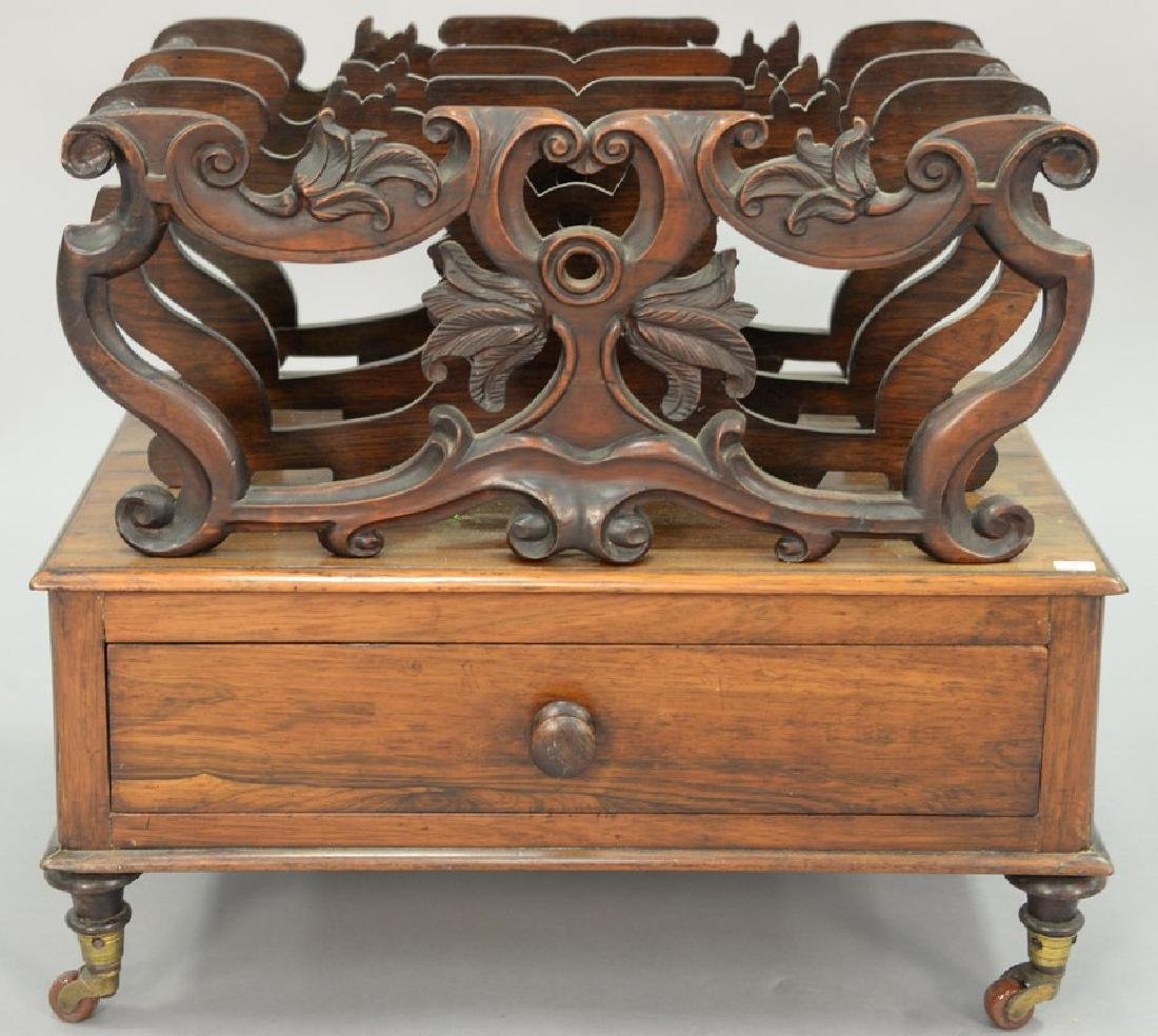 Rosewood Victorian canterbury with pierce work