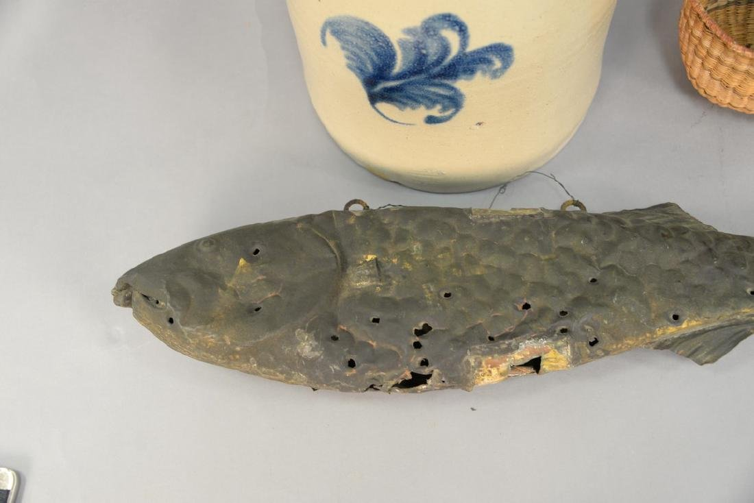 Cod fish weathervane (as is) with remnant of gilt (lg. - 2