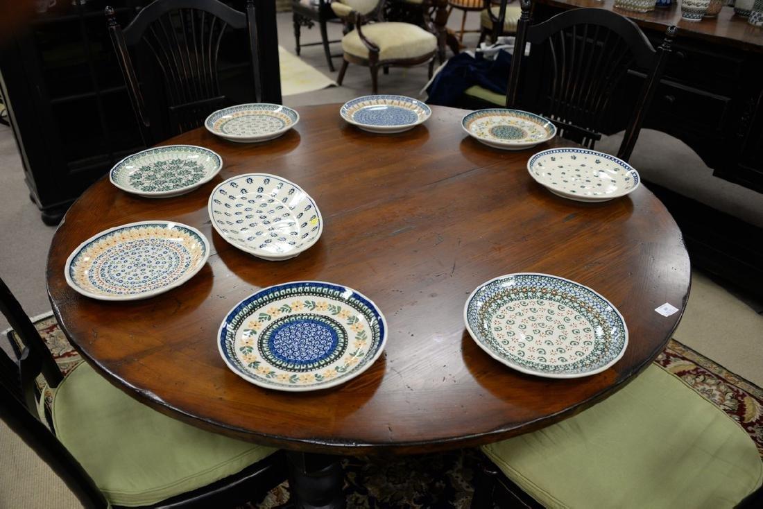 Twelve handmade Polish pottery pieces to include a set - 4