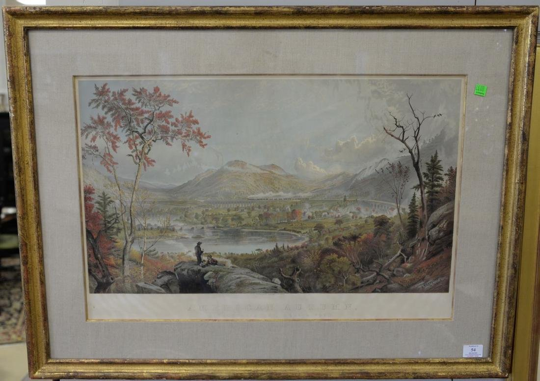 "After Jasper Cropsey, chromolithograph, ""American"