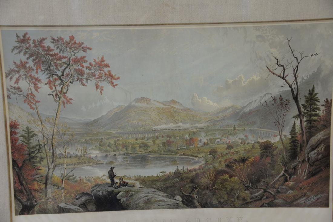 "After Jasper Cropsey, chromolithograph, ""American - 5"