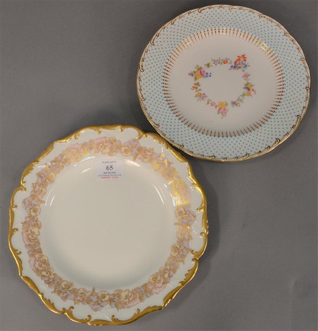 Two sets of porcelain plates including set of ten