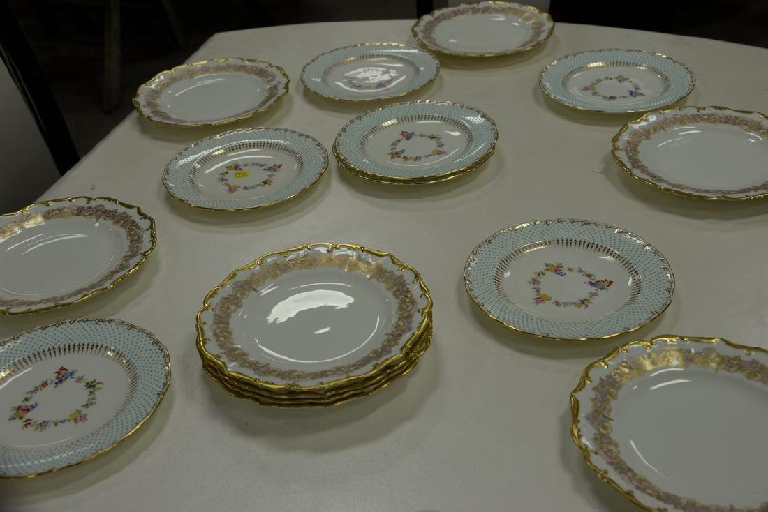 Two sets of porcelain plates including set of ten - 4