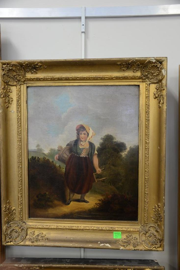 Pair of 19th century oil on canvas portrait paintings - 2