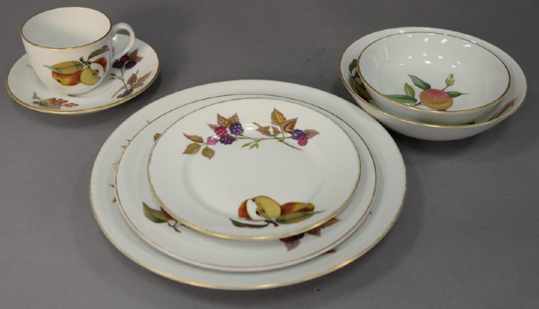 Royal Worcester Evesham fine porcelain dinnerware set,