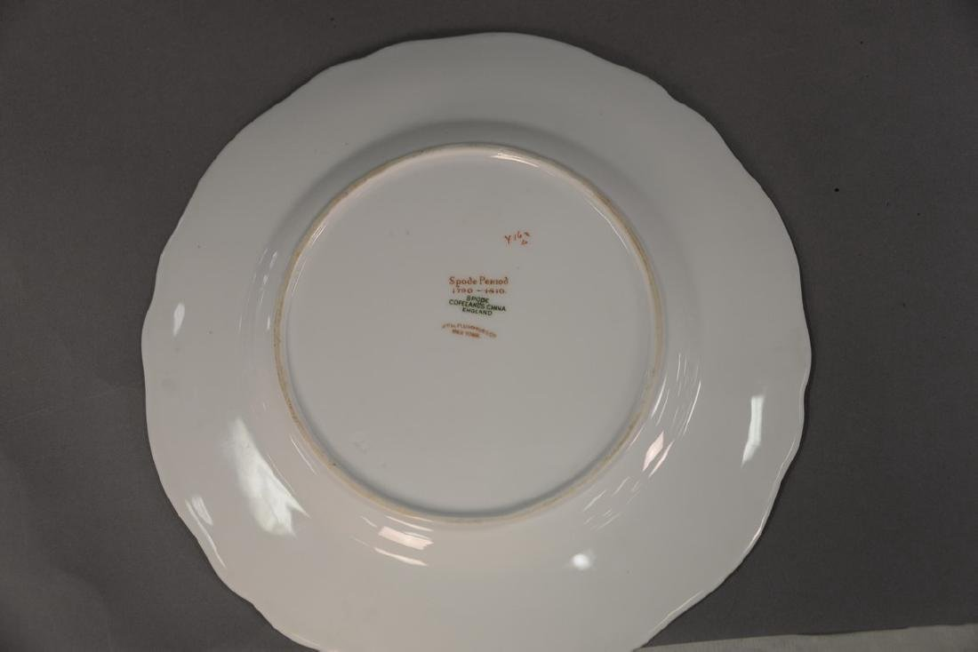 Set of six Spode hand painted bird plates. dia. 9in. - 2