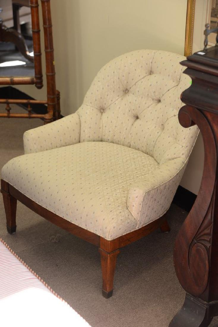 Pair of upholstered boudoir chairs. ht. 28 1/2in. - 3