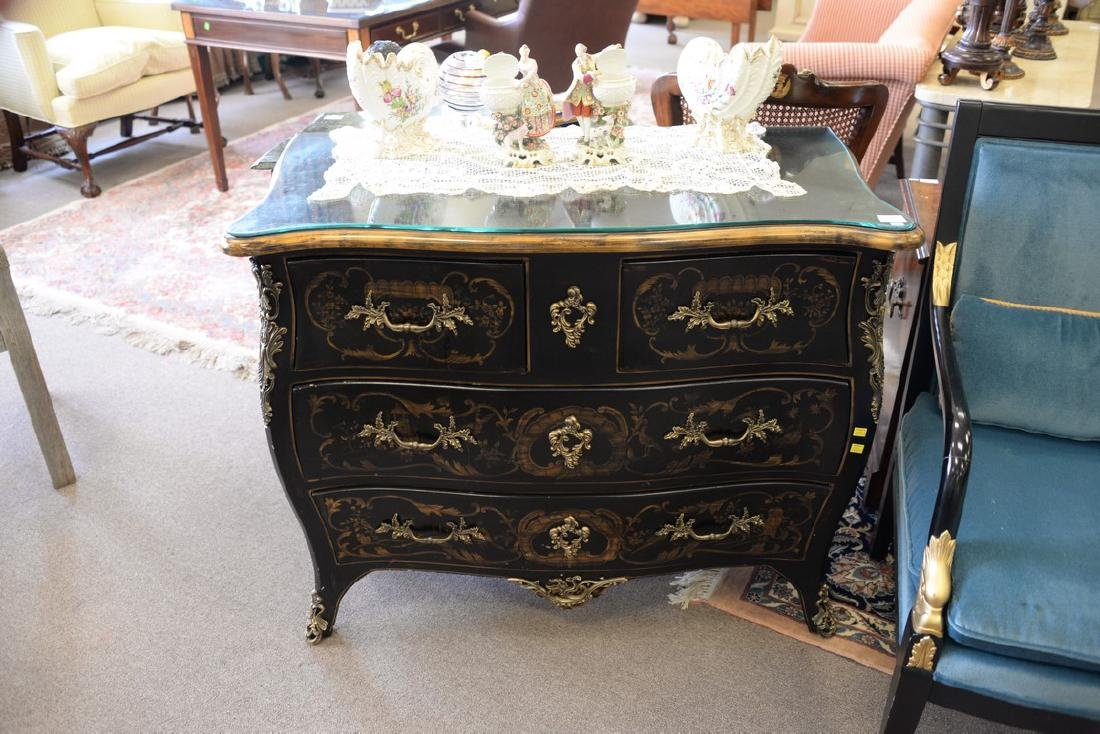 Louis XV style commode. ht. 33in., wd. 40in., dp. 20in. - 2