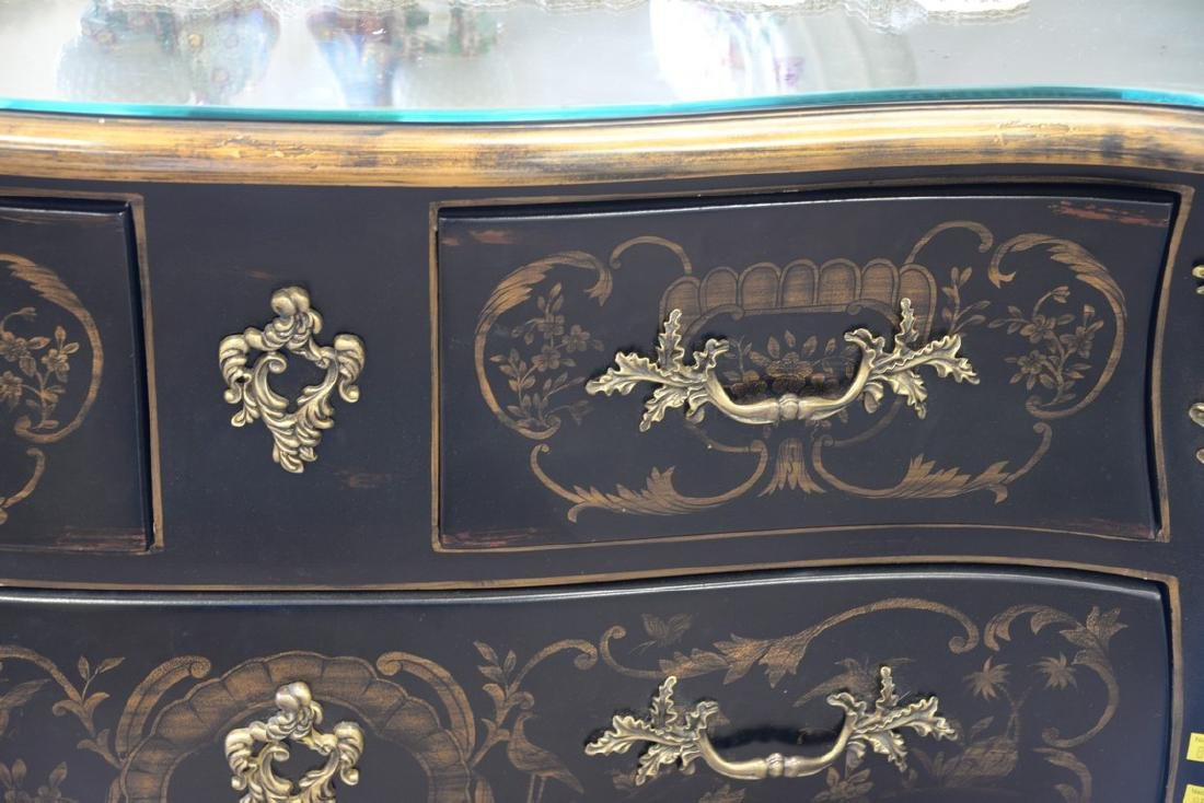 Louis XV style commode. ht. 33in., wd. 40in., dp. 20in. - 3