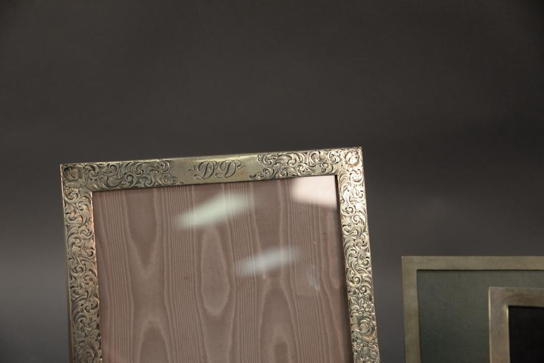Five sterling silver picture frames including Shreve - 2