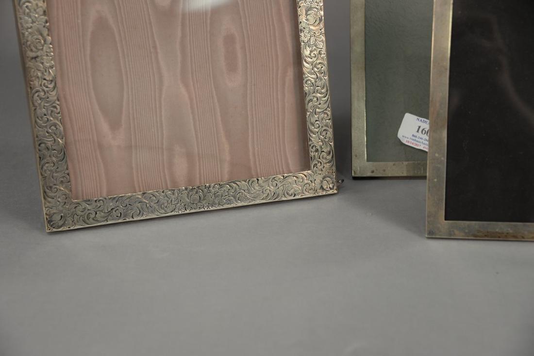 Five sterling silver picture frames including Shreve - 3