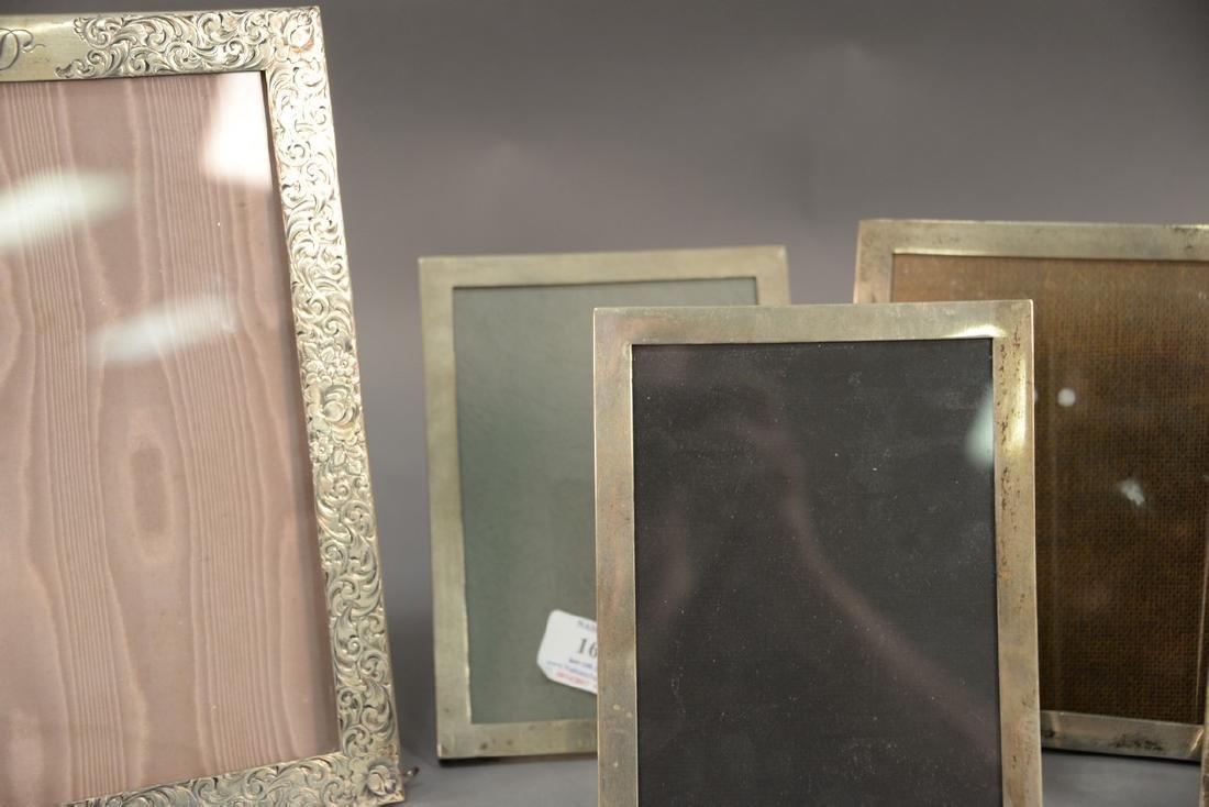 Five sterling silver picture frames including Shreve - 4