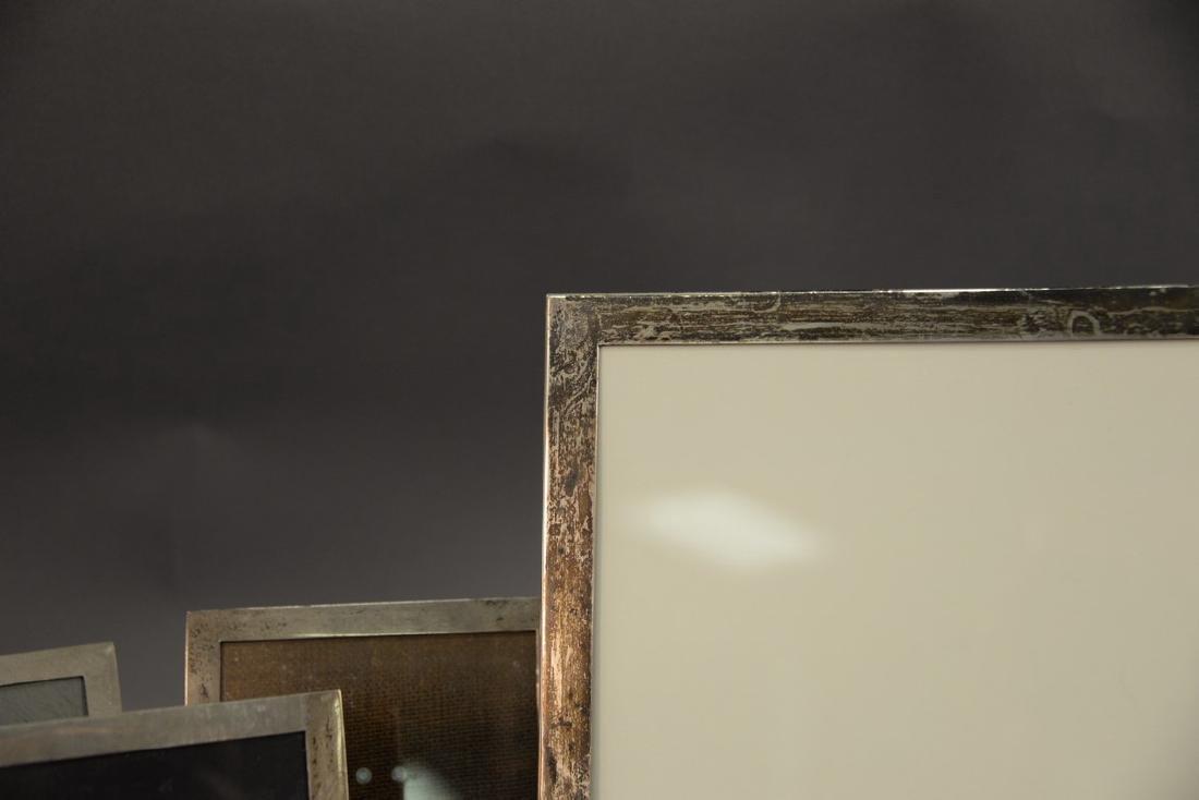 Five sterling silver picture frames including Shreve - 5