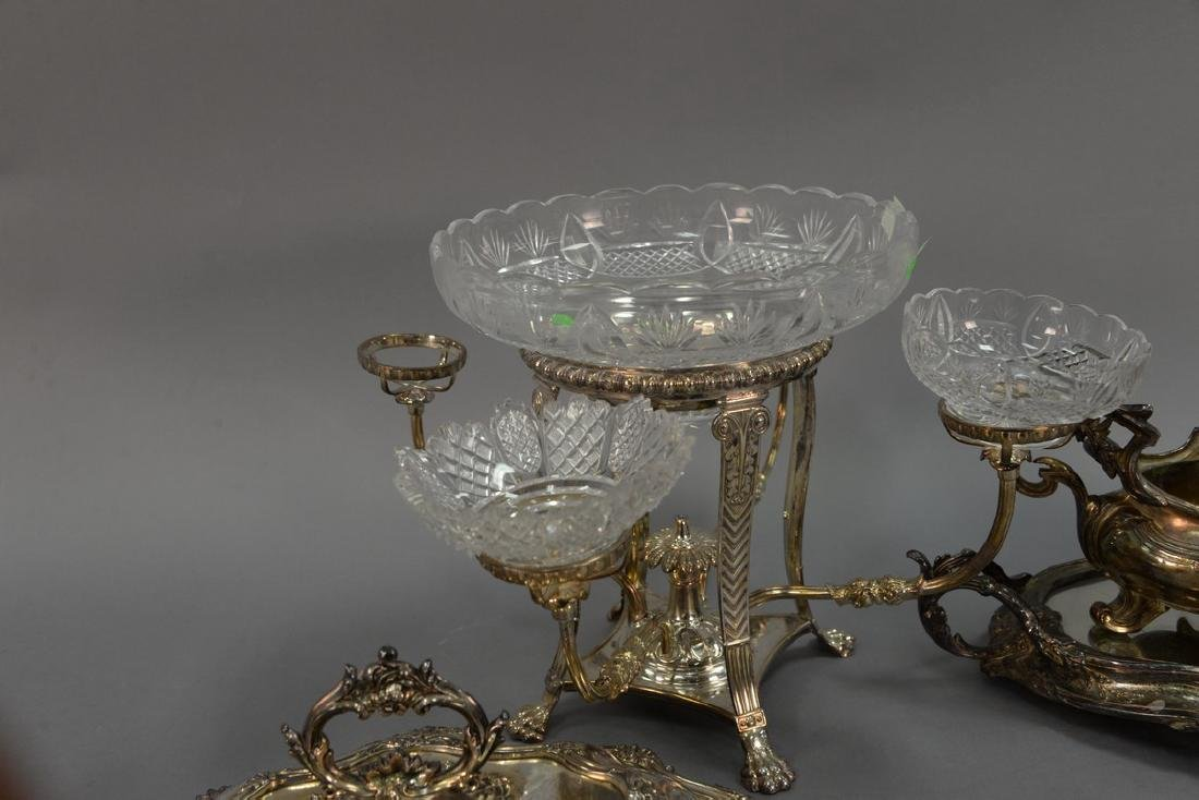 Five silverplated items to include covered tureen (ht. - 4