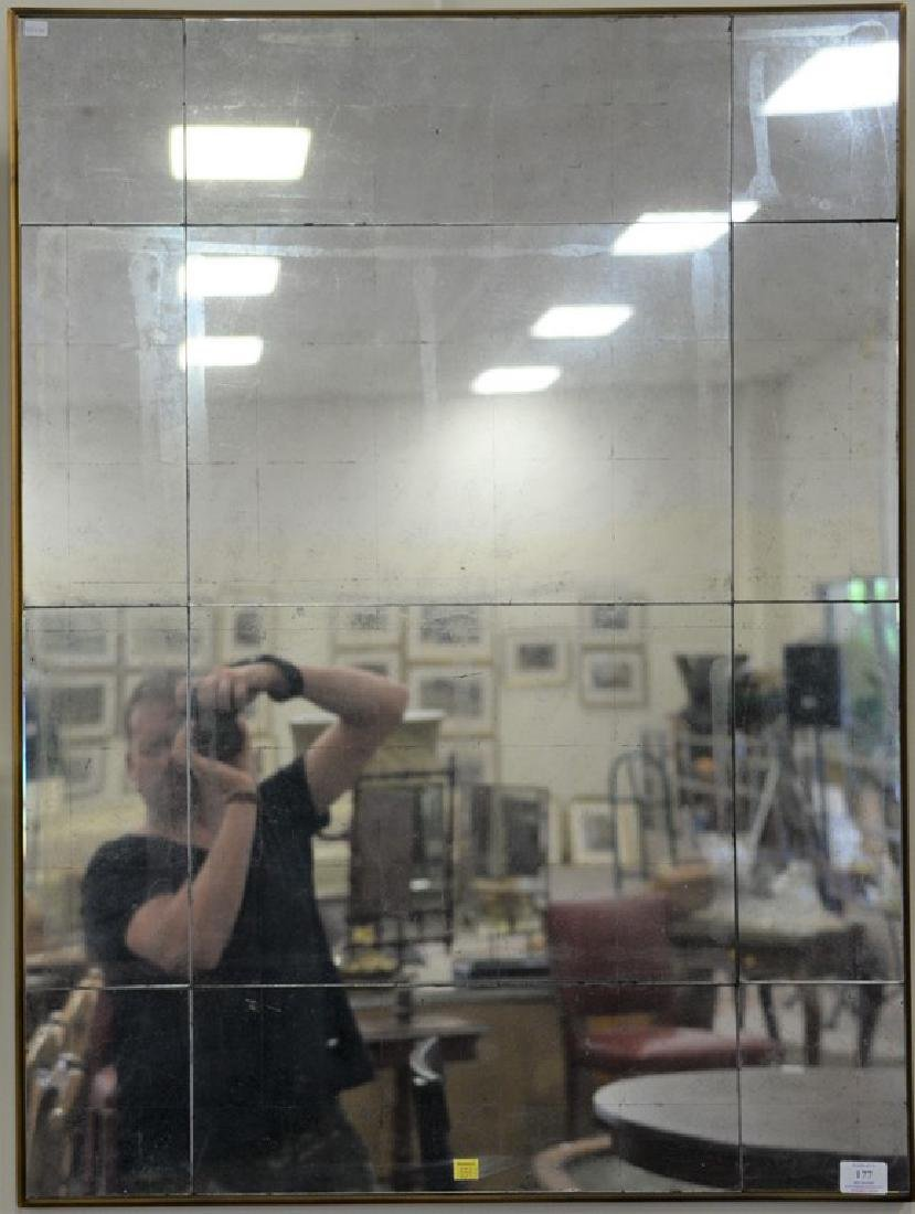 Pair of decorative contemporary beveled glass mirrors.