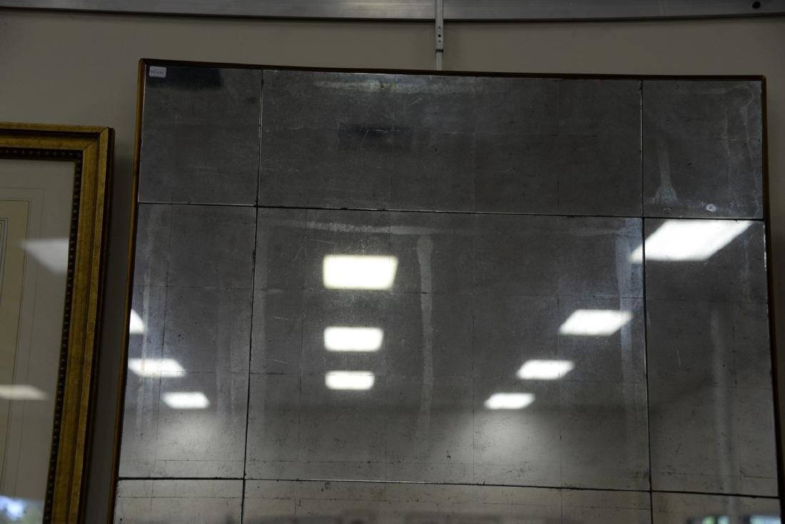 Pair of decorative contemporary beveled glass mirrors. - 2