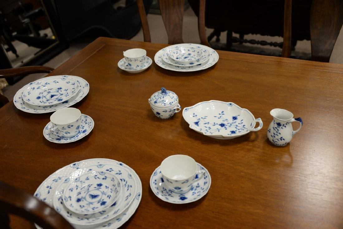 Seventy-five piece Danish porcelain blue and white - 2