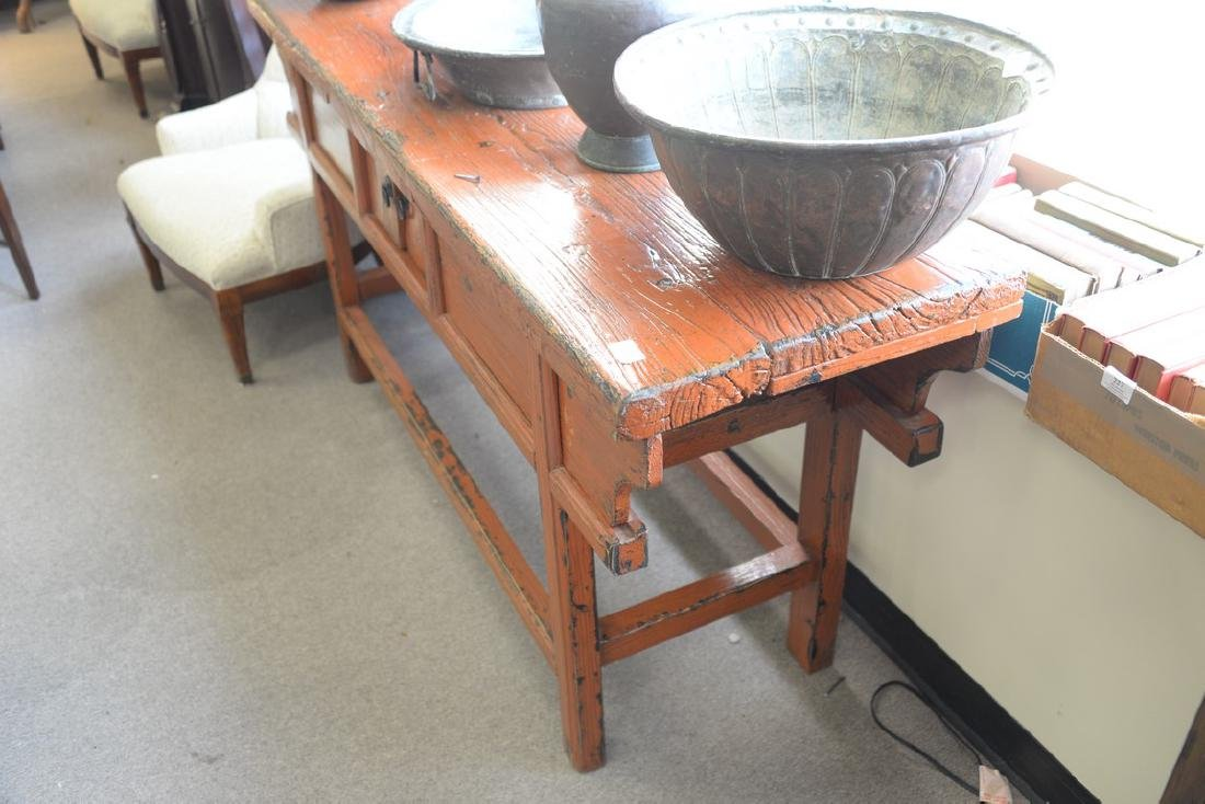 "Chinese altar table. ht. 32 1/2in., top: 19"" x 68"" - 4"