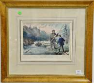 Group of four framed sporting lithographs including