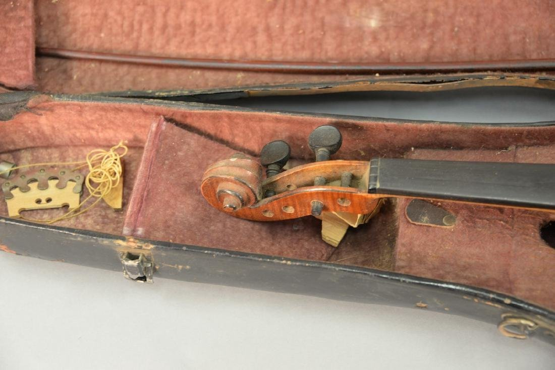 Two piece lot to include a violin with bow and original - 3