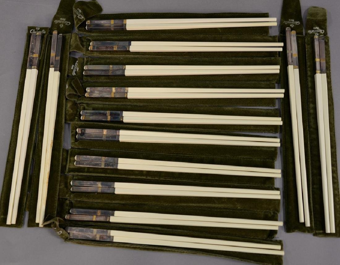 Set of fourteen Christofle Paris France chopsticks