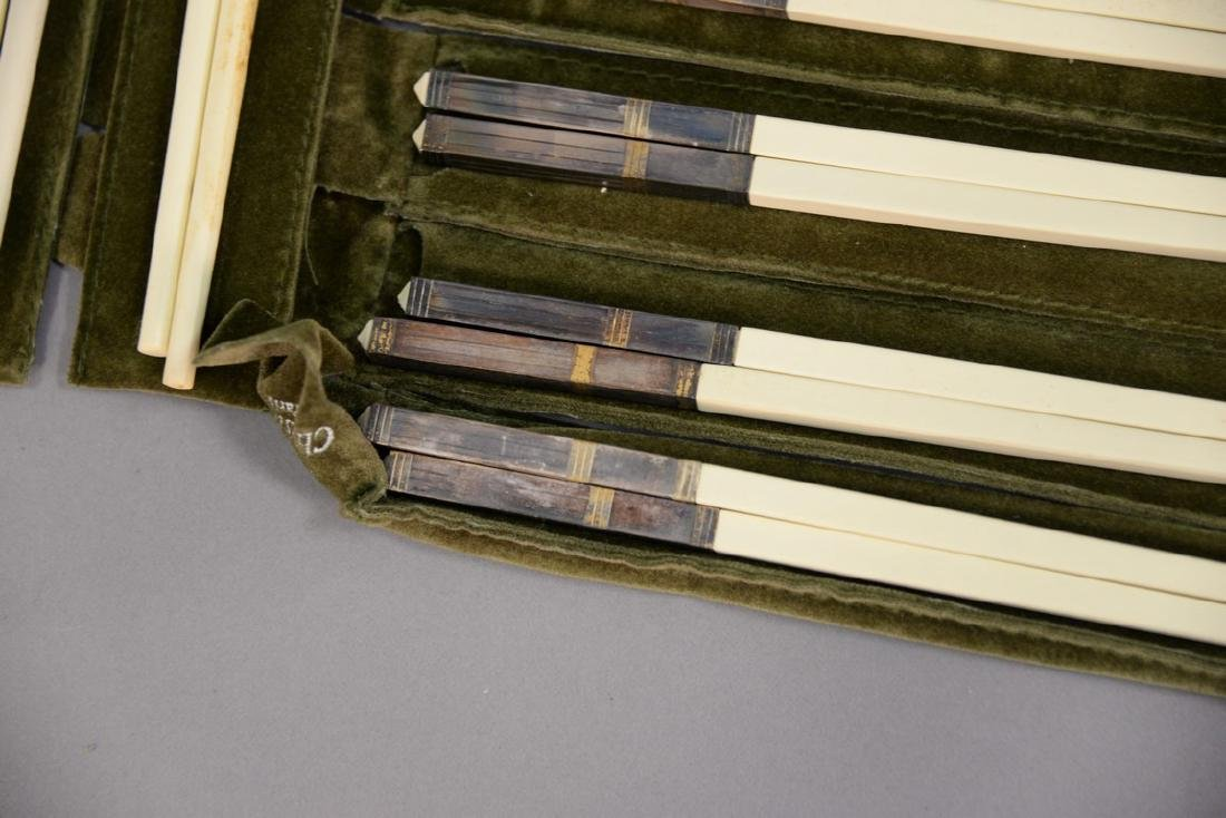 Set of fourteen Christofle Paris France chopsticks - 4