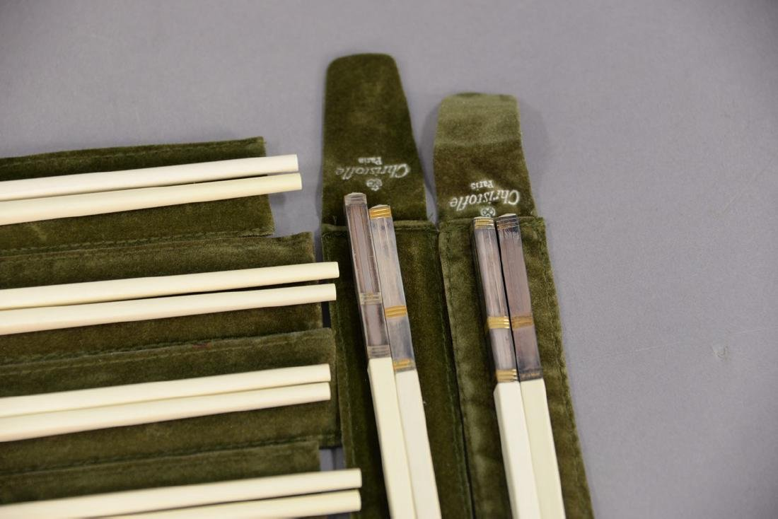 Set of fourteen Christofle Paris France chopsticks - 5