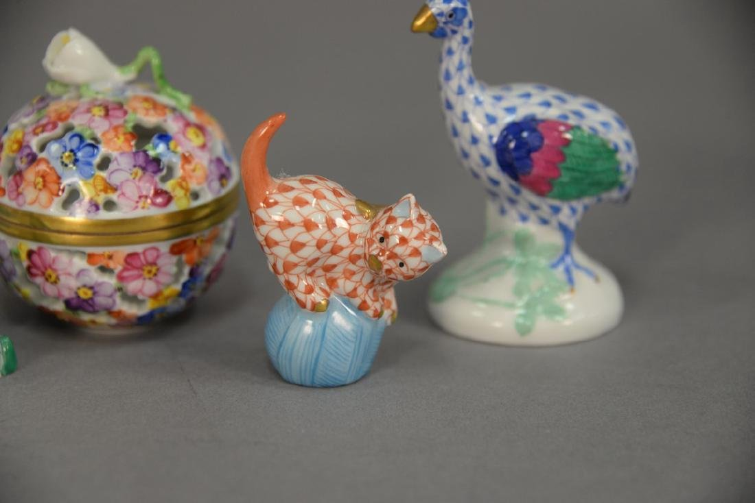 Five Herend porcelain pieces to include dancing - 2