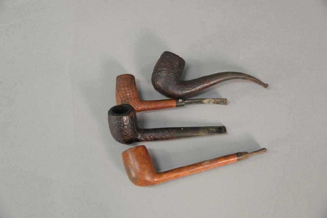 Four tobacco pipes including two Dunhill Shell Briar - 2