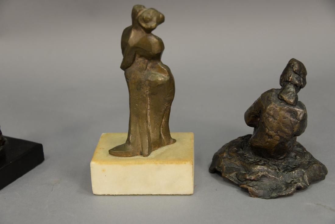 Three piece lot having two small modern bronze - 5