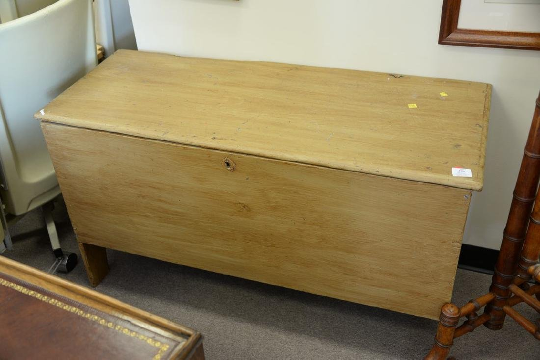 Two lift top blanket chests on turned legs. ht. 25in., - 6